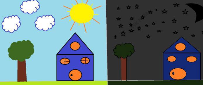 نقاشی شب و روز