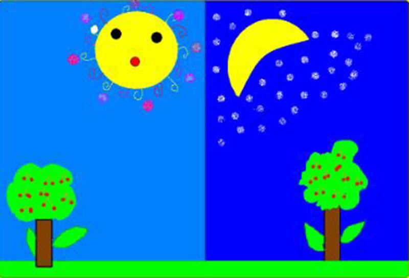 تصاویر تفاوت شب و روز