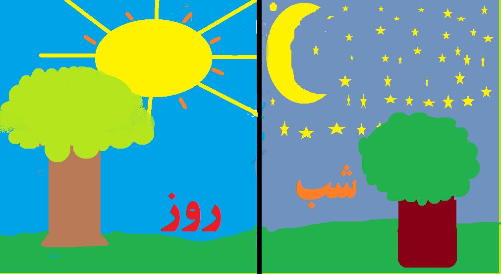 فرق میان شب و روز در نقاشی
